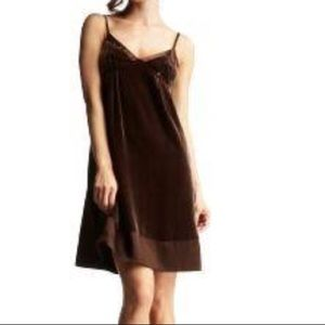 The Gap velvet slip dress 0